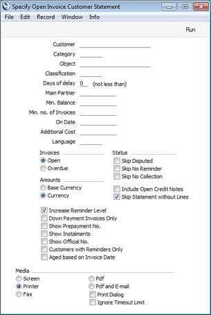 HansaWorld Integrated ERP And CRM - Invoice reminder software