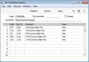 tax ledger template